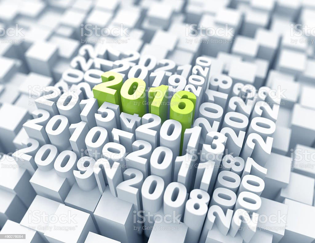New year 2016 -old years concept stock photo