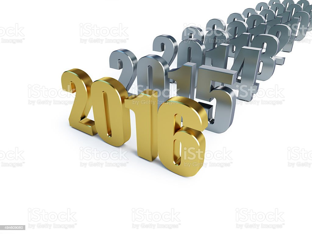 new year 2016 on a white background stock photo