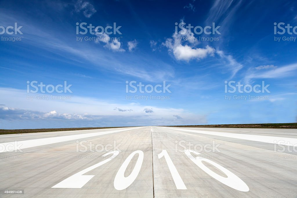 New year 2016 on the Road stock photo