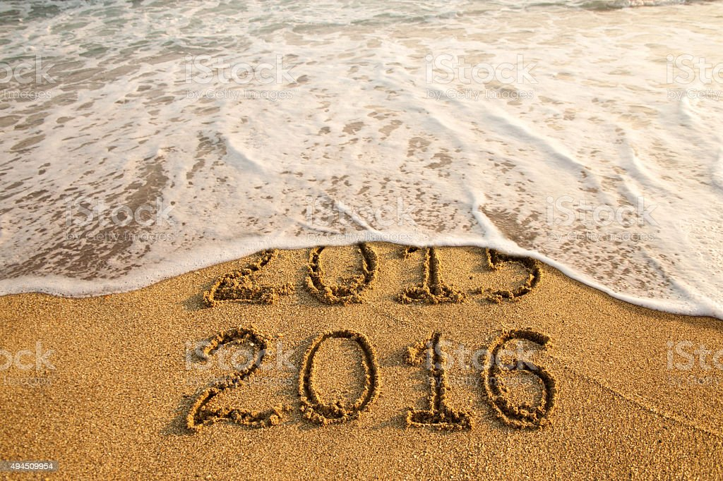 New year 2016 stock photo