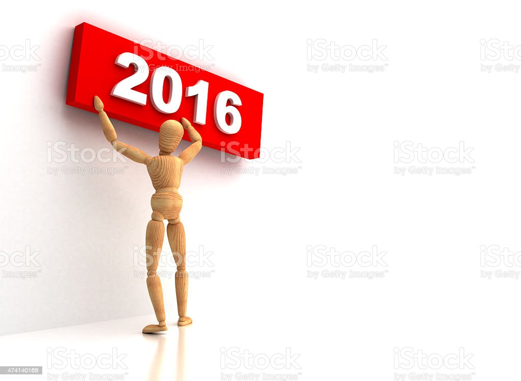 New Year 2016 sign stock photo