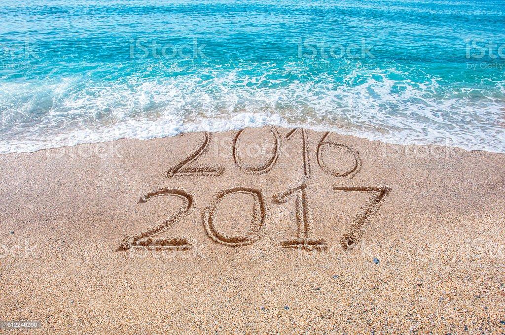 new year bye bye stock photo