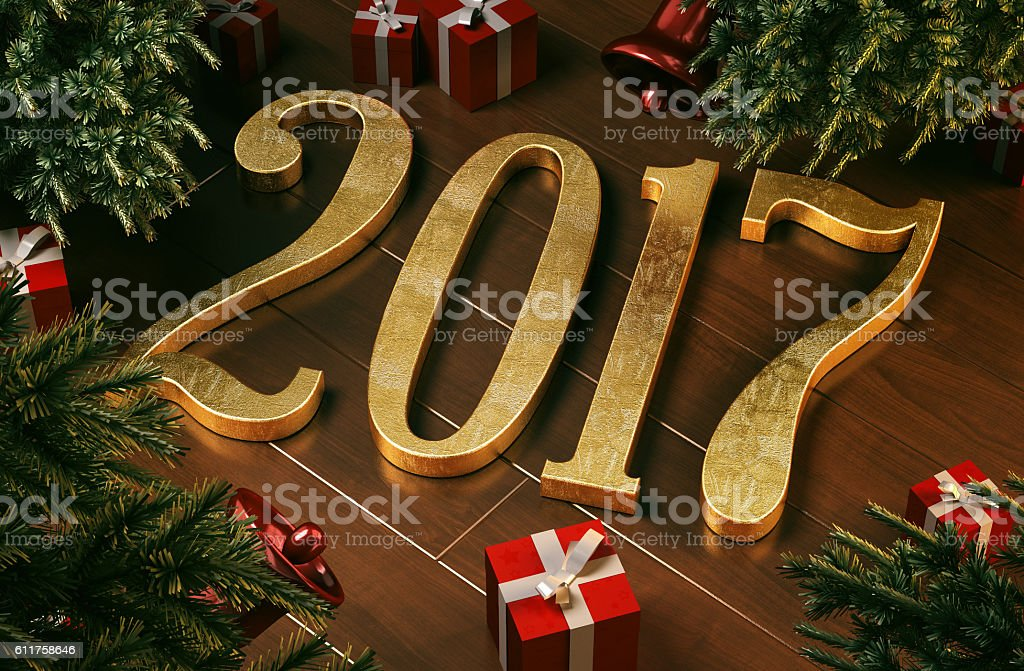New year 2017 concept stock photo