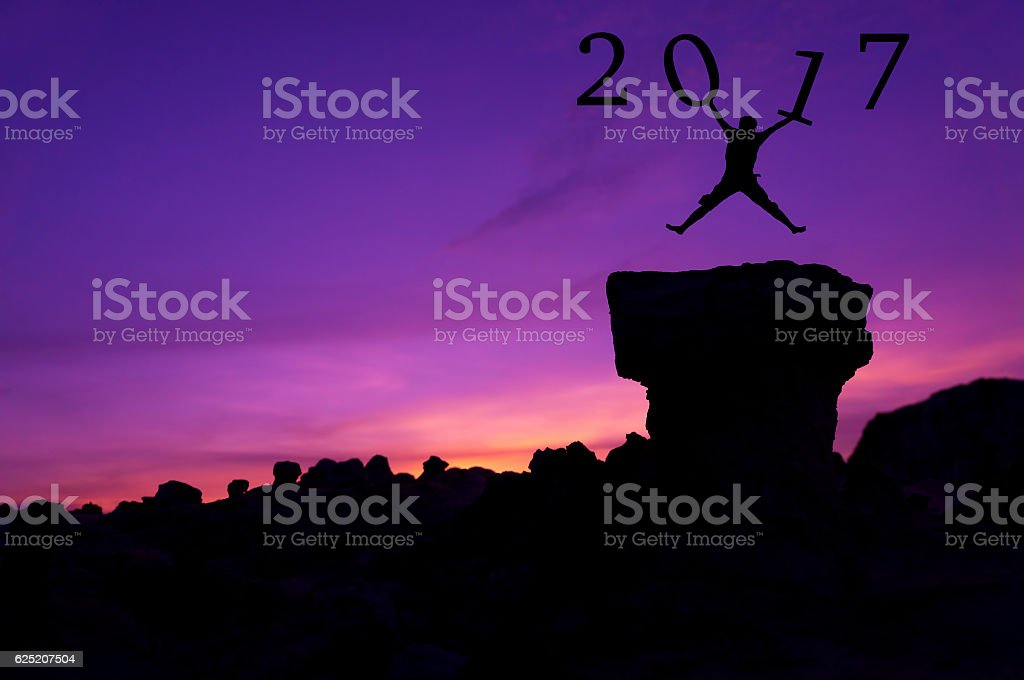 New year 2017 concept template stock photo