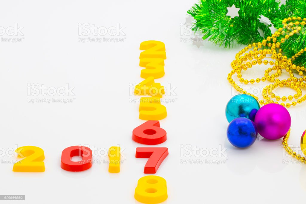 New Year 2017 is coming concept. Happy New Year 2017 stock photo