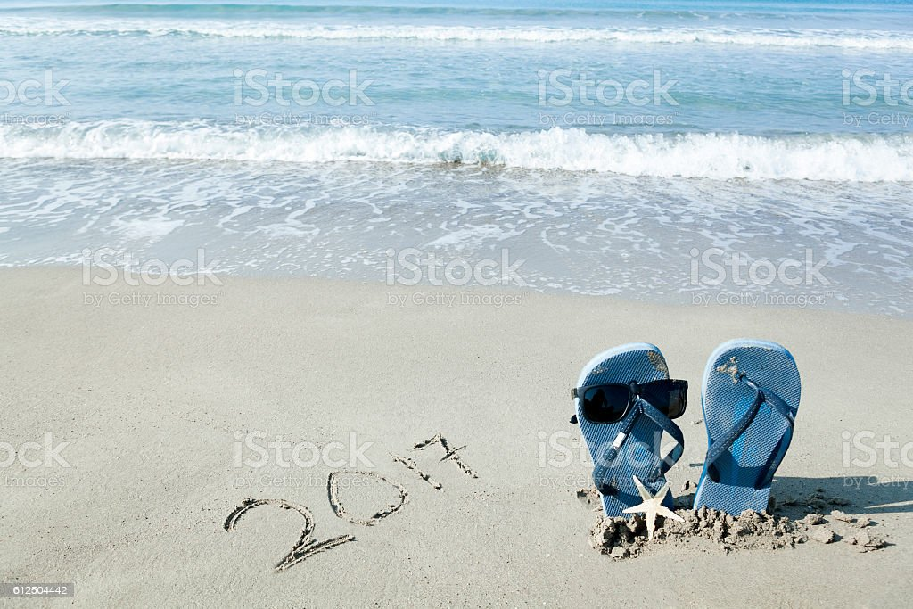 New Year 2017 is coming concept. stock photo