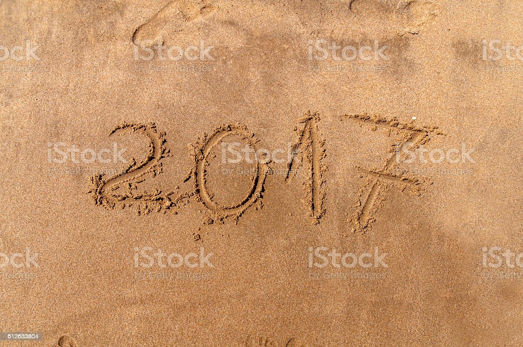 New Year 2017  is coming concept stock photo