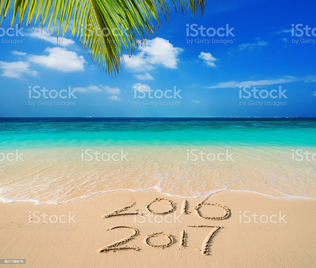 New Year 2017 is coming stock photo