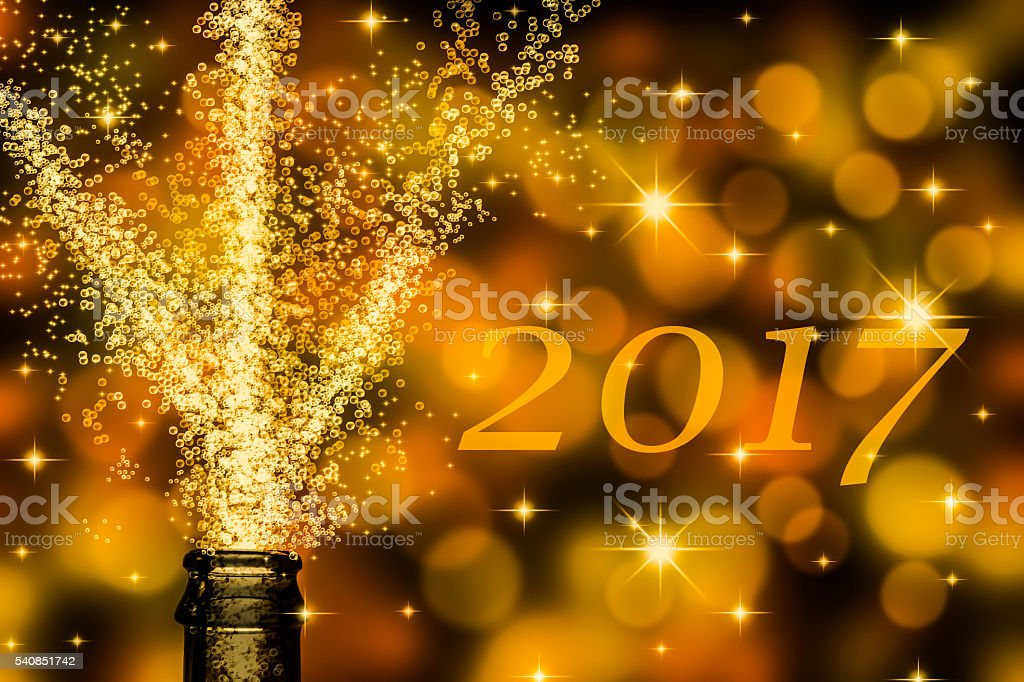 new year 2017 stock photo