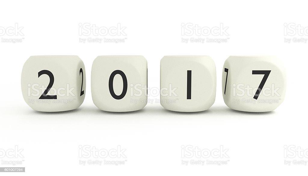 New year, 2017 stock photo