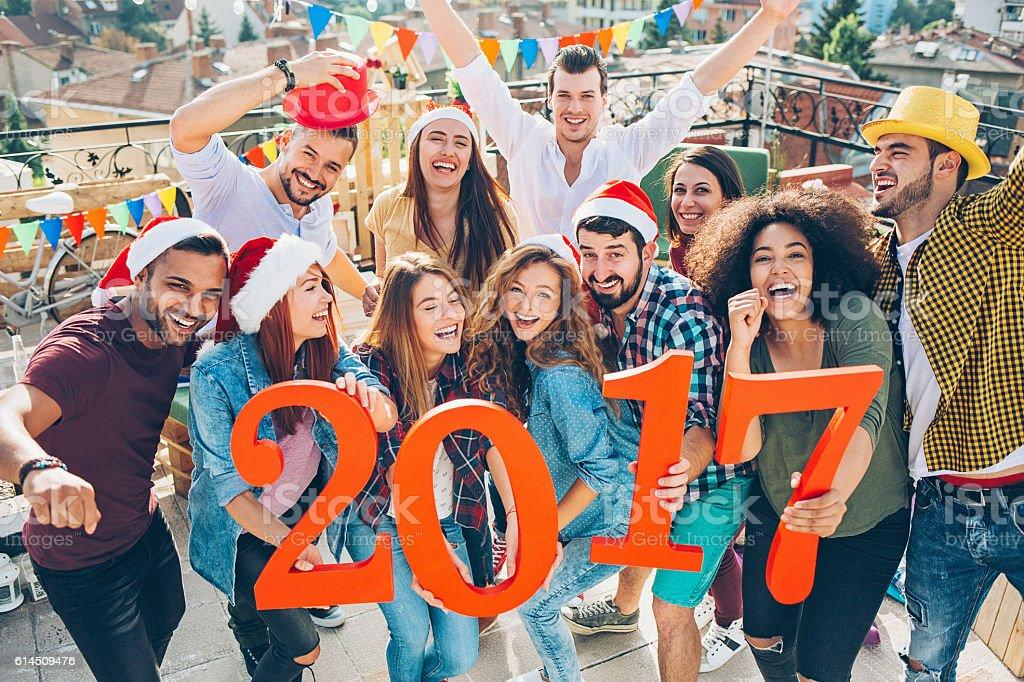New Year - 2017 stock photo