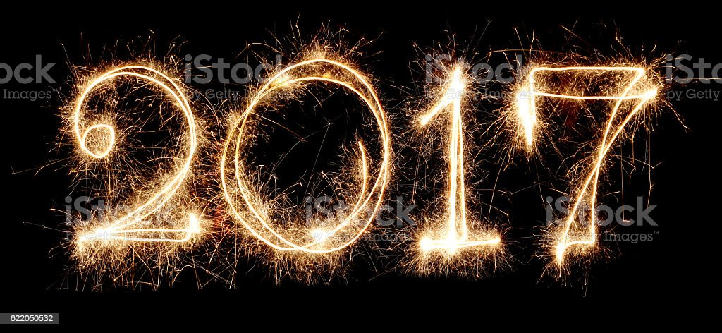 New Year 2017 stock photo