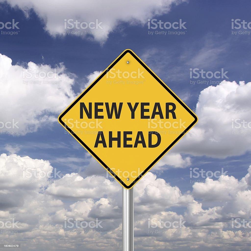 New Year Ahead royalty-free stock photo