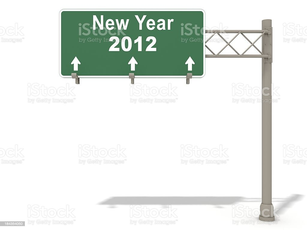 New Year Ahead royalty-free stock photo
