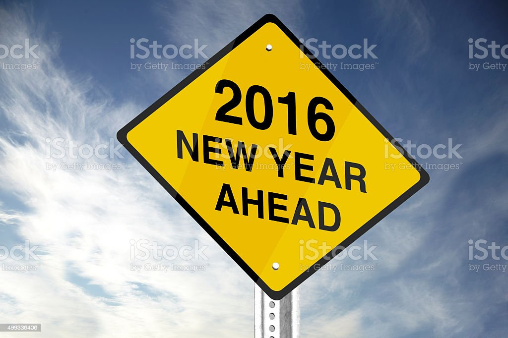 2016 New year ahead stock photo