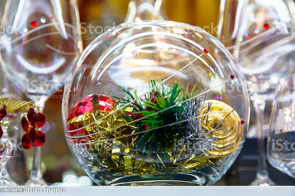New year and Christmas in Prague.  decorations, stars, stock photo