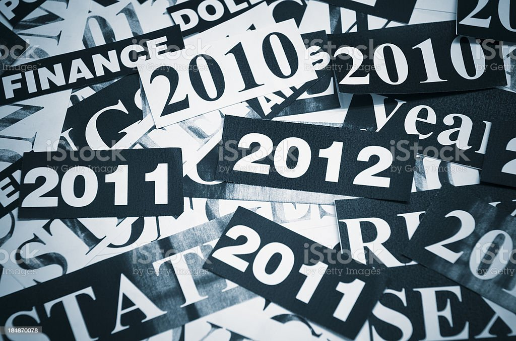 New year and Most important headlines concept royalty-free stock photo