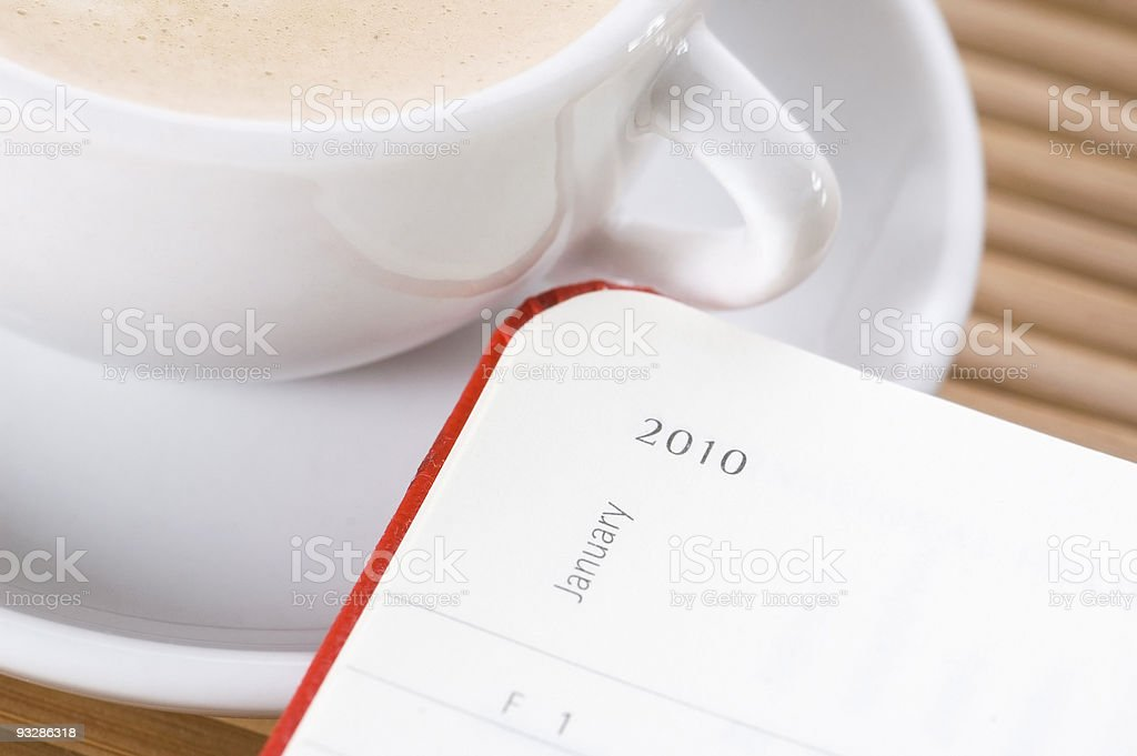 new year and the first cup of coffee royalty-free stock photo