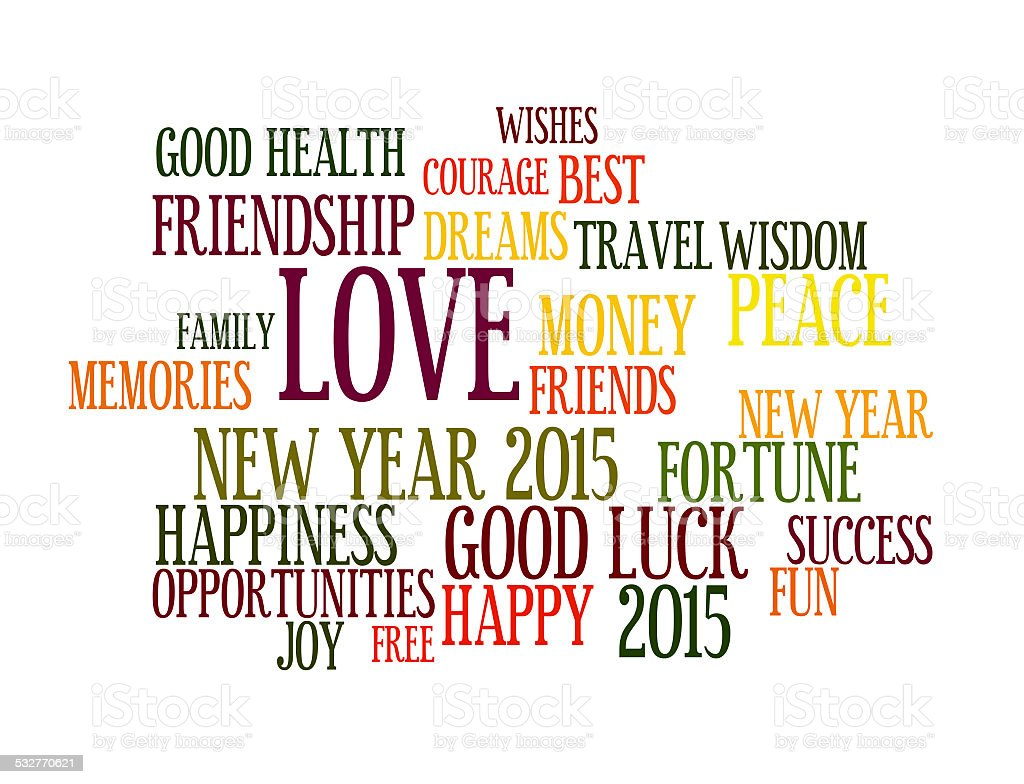 New Year and Wishes 2015 stock photo