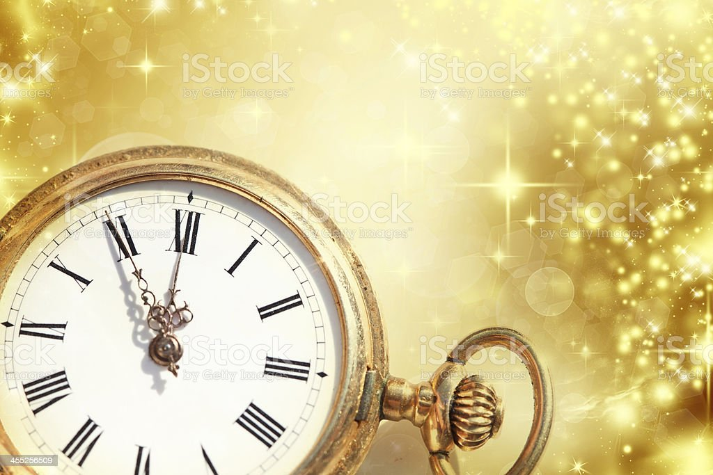 New year at midnight stock photo
