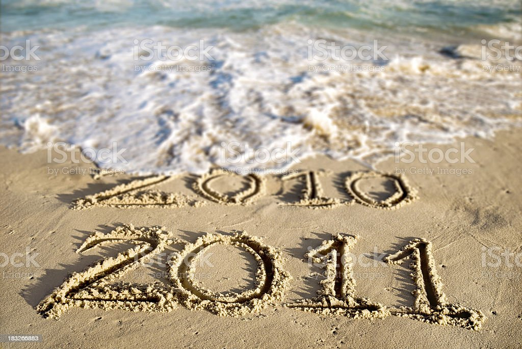 New Year at the Beach 2011 royalty-free stock photo