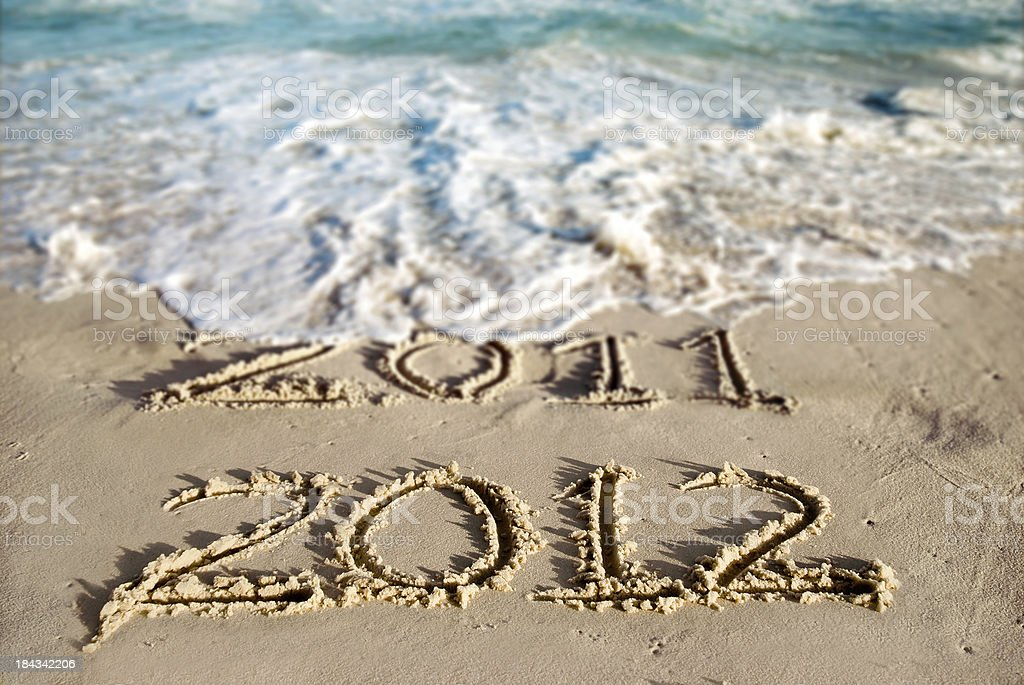New Year at the Beach 2012 royalty-free stock photo