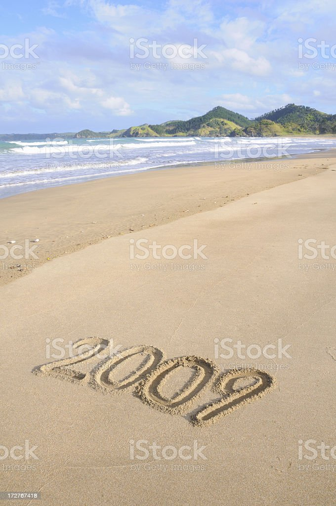 New Year at the beach royalty-free stock photo