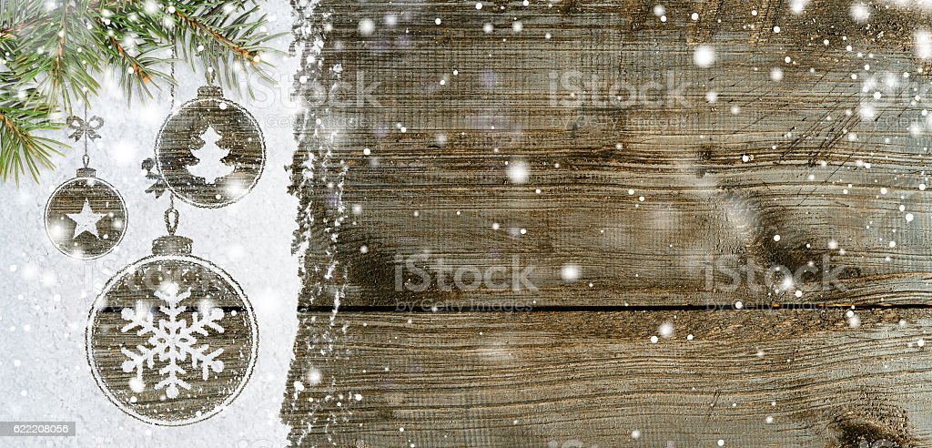 new year background on snow stock photo