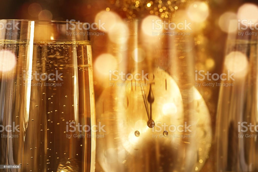 New year background with champagne stock photo