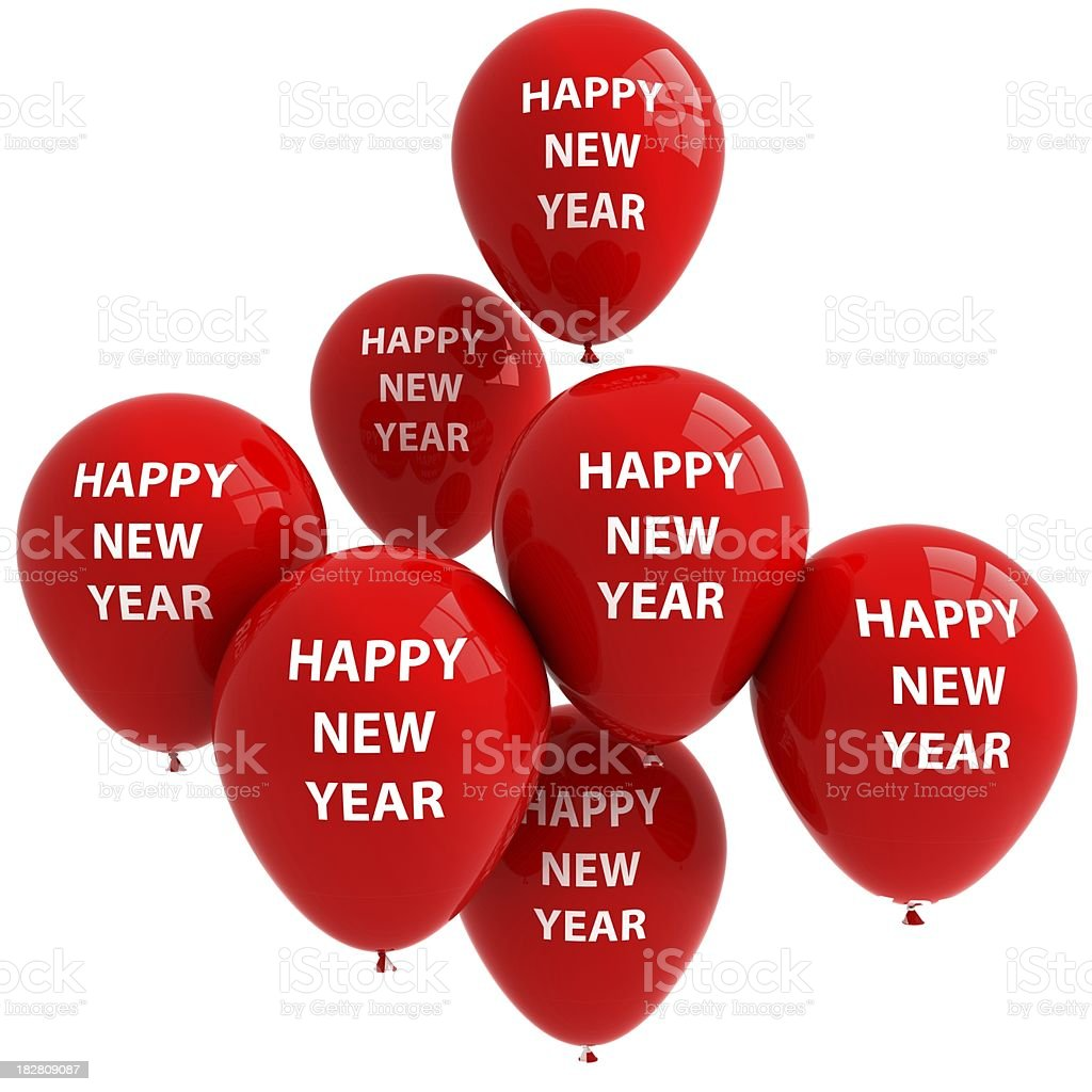 New Year Balloons royalty-free stock photo