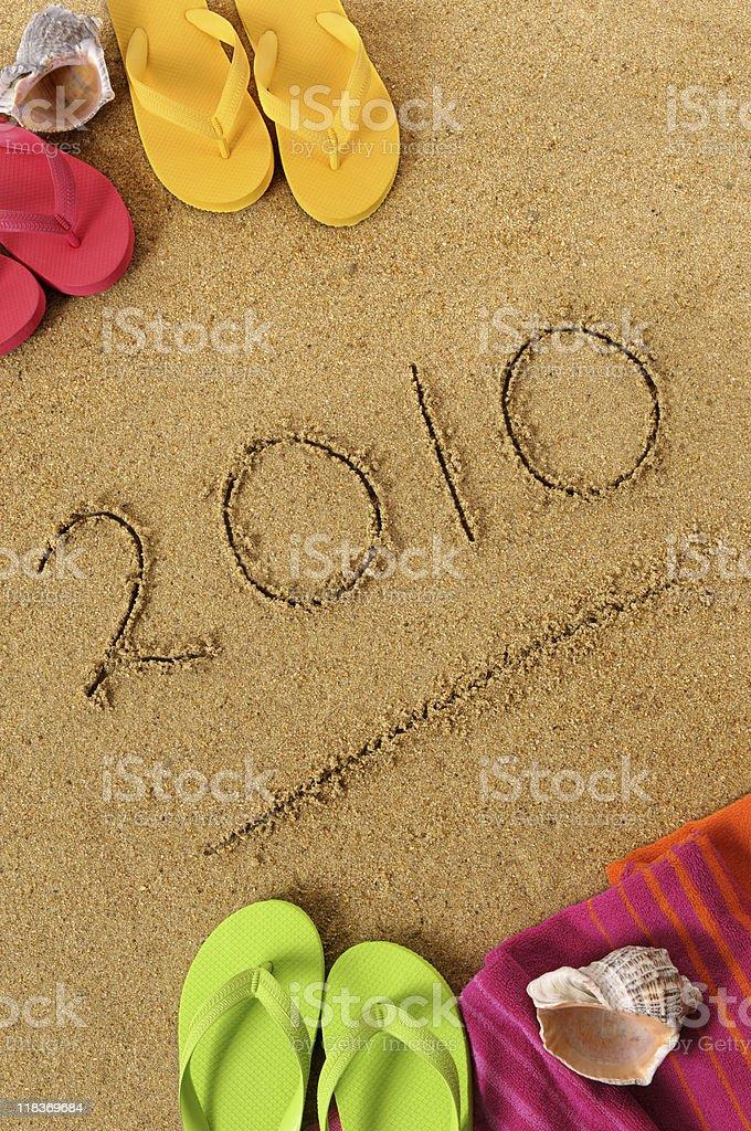 New Year beach background royalty-free stock photo