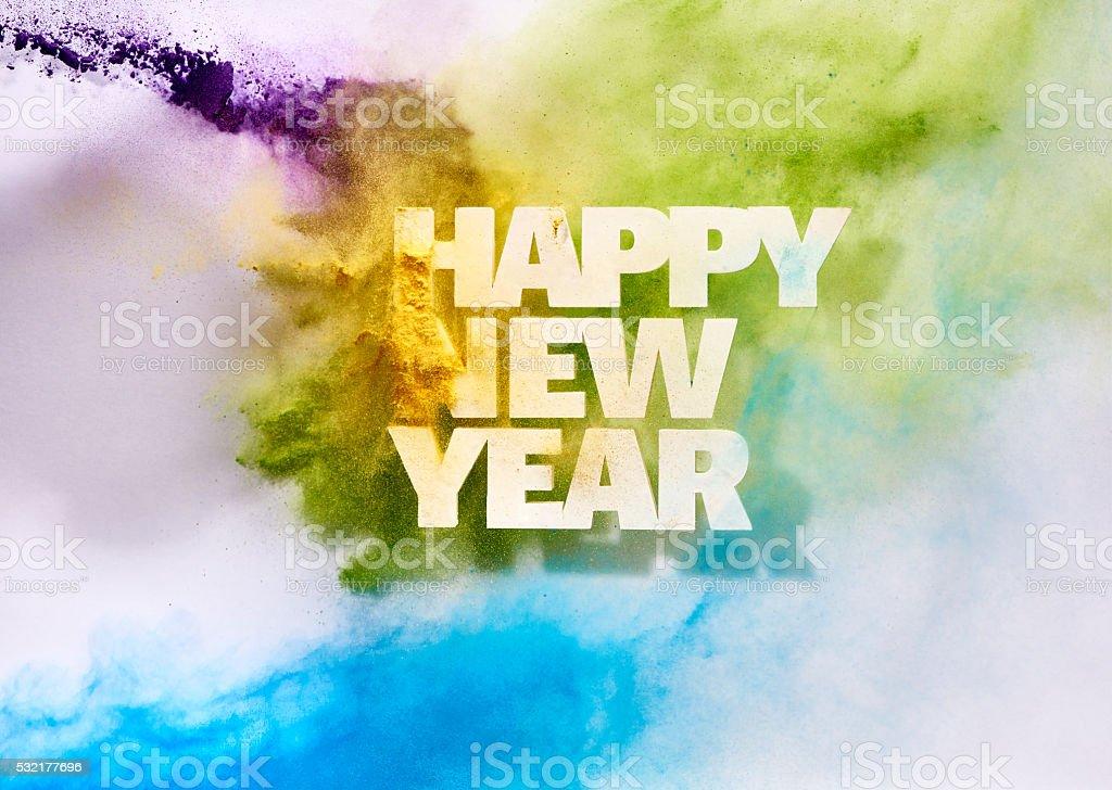 New Year Blast stock photo