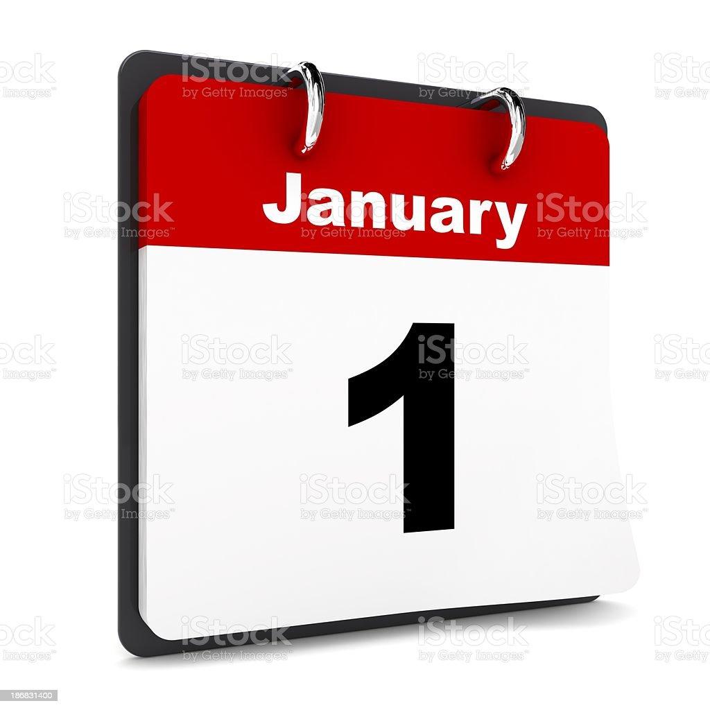New Year Calendar stock photo