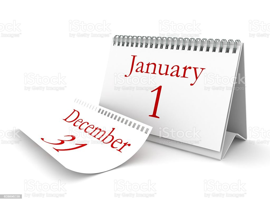 New year calendar stock photo