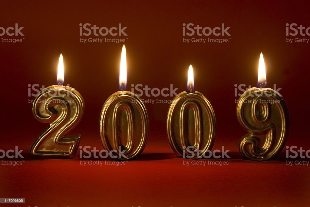 New year candles 2009 stock photo