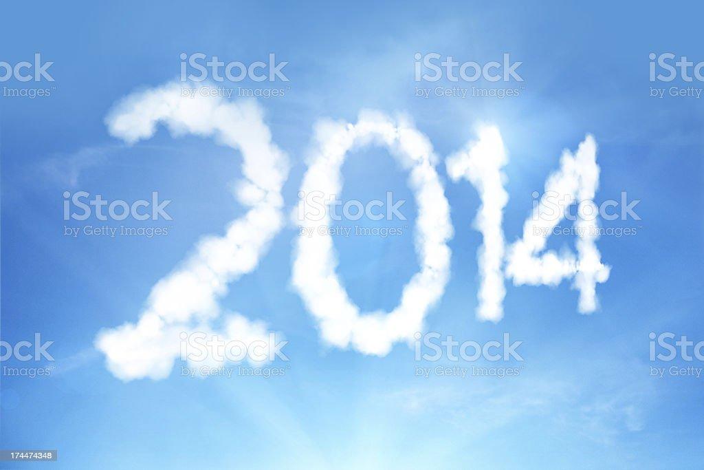 New Year Celebration - 2014 royalty-free stock photo