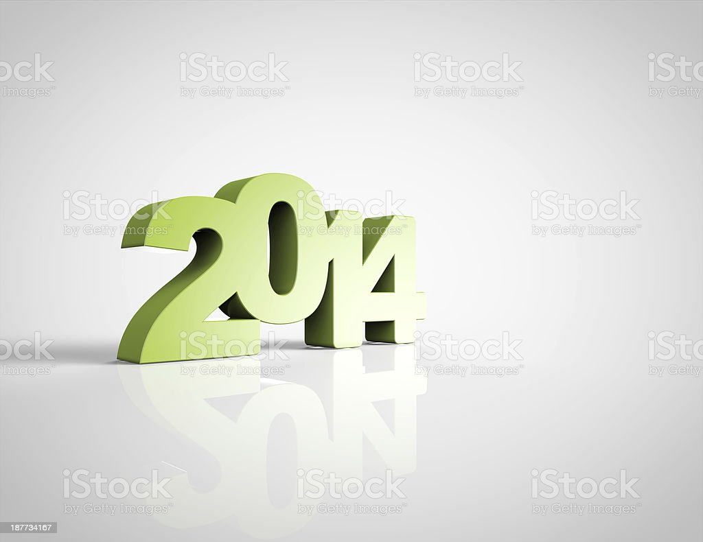 New Year Celebration 2014 royalty-free stock photo