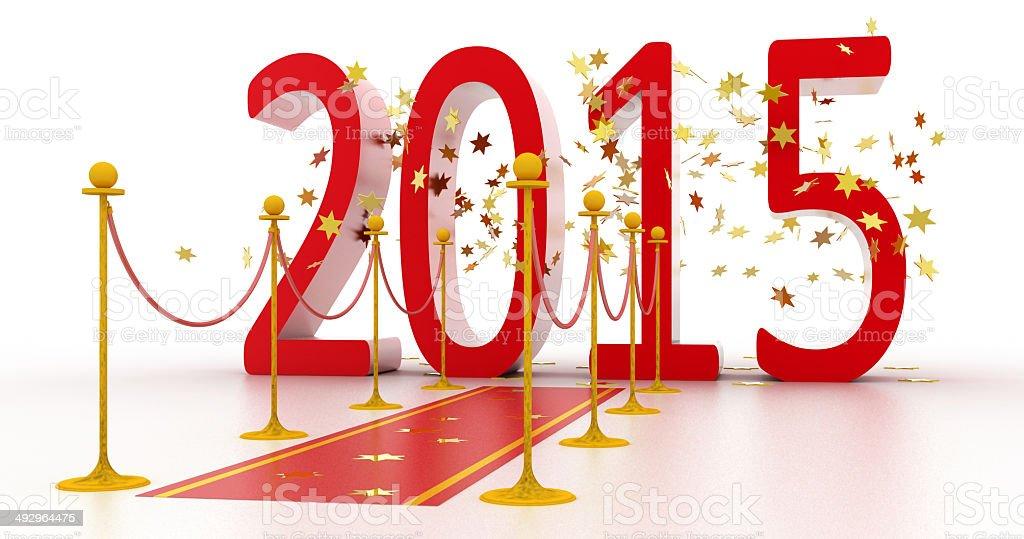 New Year Celebration 2015 royalty-free stock photo
