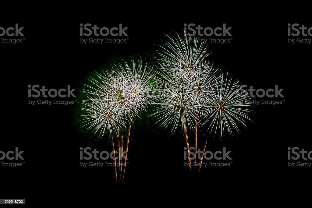 New Year celebration fireworks stock photo
