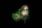 New Year celebration fireworks