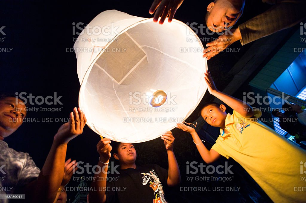 New Year celebrations in northern Thailand royalty-free stock photo