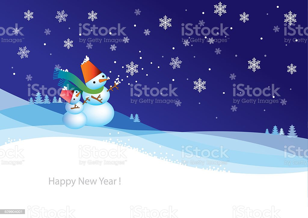 New Year Christmas card stock photo