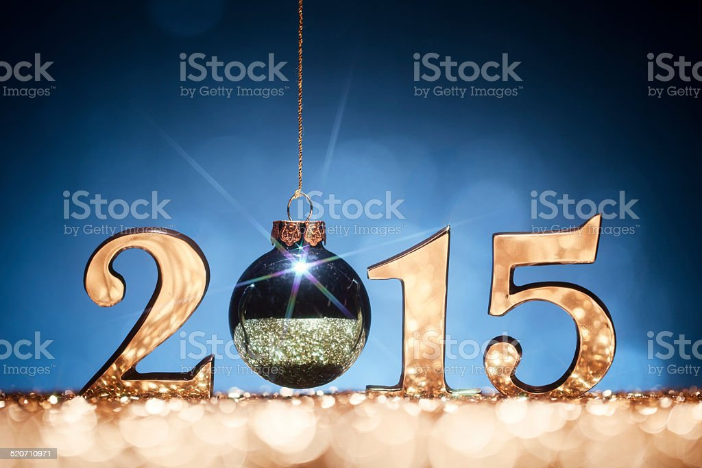 2015 New Year Christmas Decoration stock photo