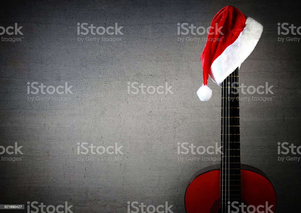 Новый год Рождество гитара Стоковые фото Стоковая фотография