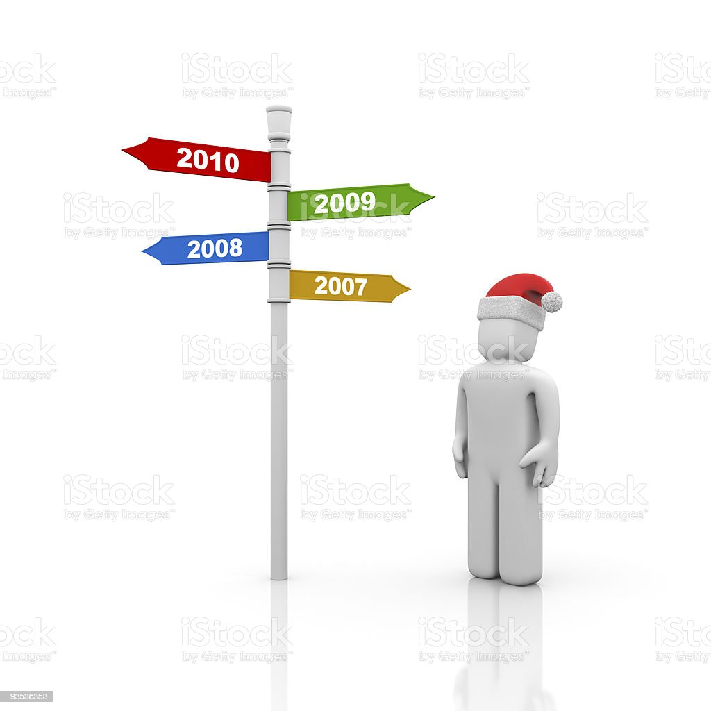 New year comes royalty-free stock photo