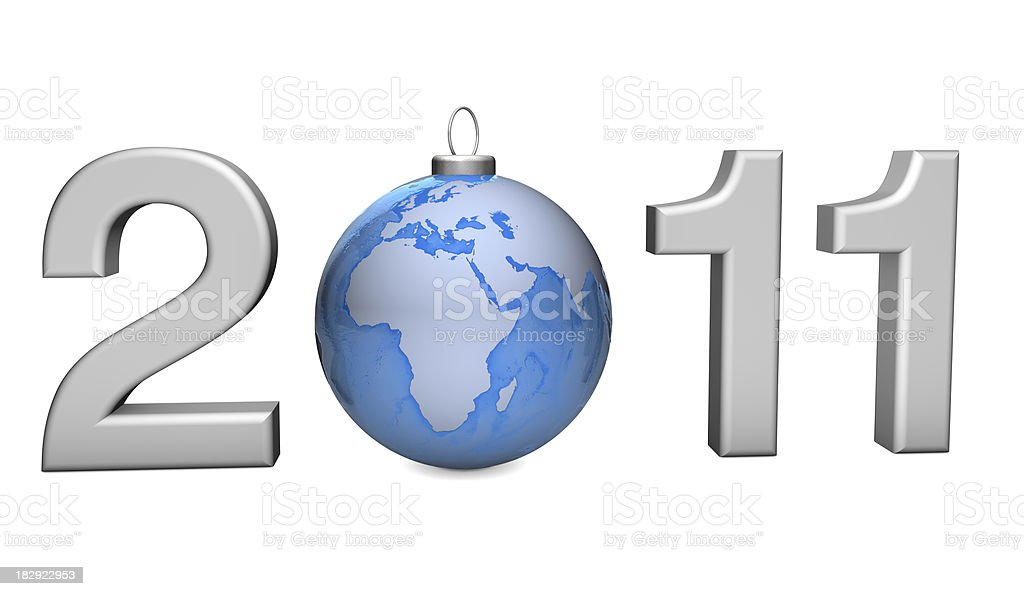 New Year Concept 2011 royalty-free stock photo