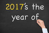 New Year Concept on Chalkboard