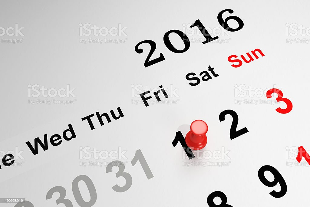 New Year Concept with Calendar stock photo