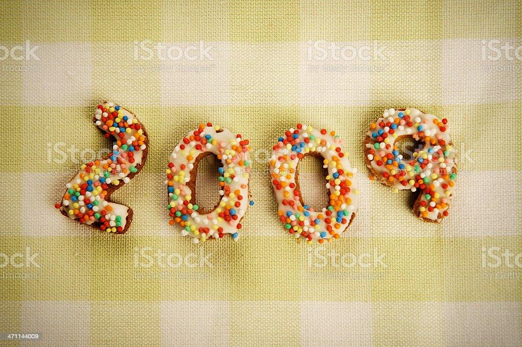 New year cookies stock photo