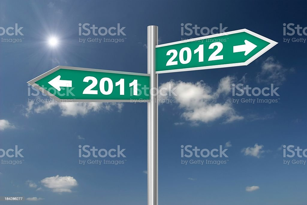 New Year Crossroad royalty-free stock photo